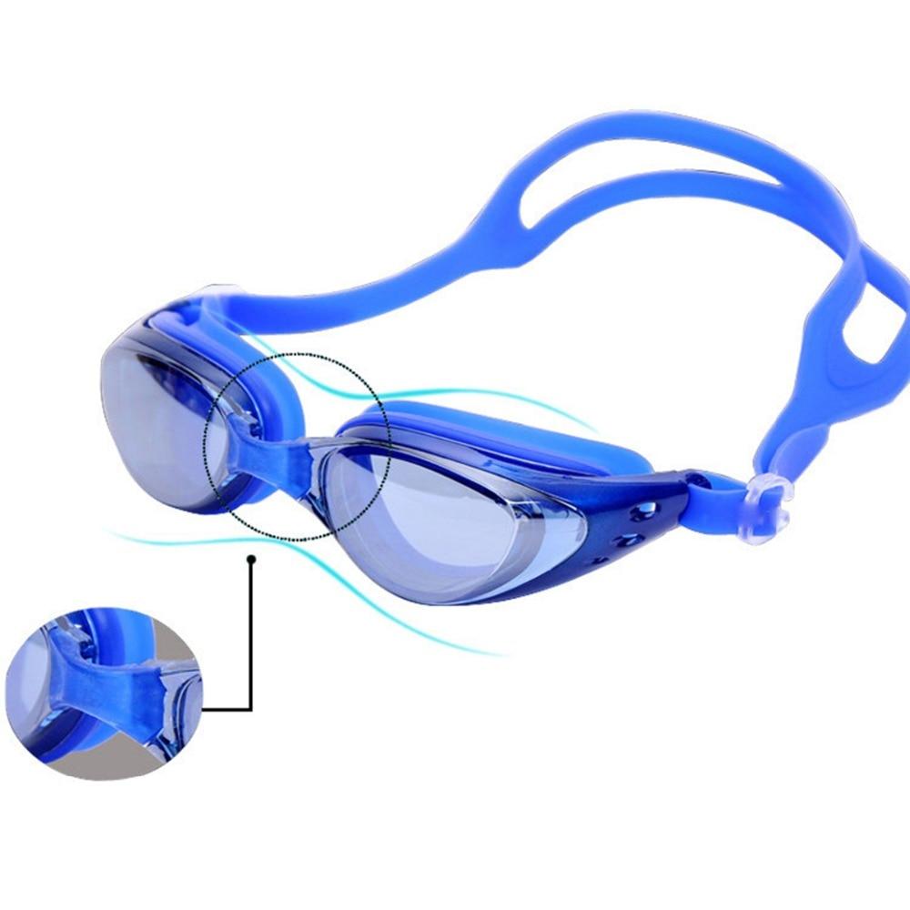 Waterproof Sports Swim Eyewear Red Blue Black Antifogging HiFi Swimming Glasses Anti Fog UV Protection Triathlon Swim Goggles
