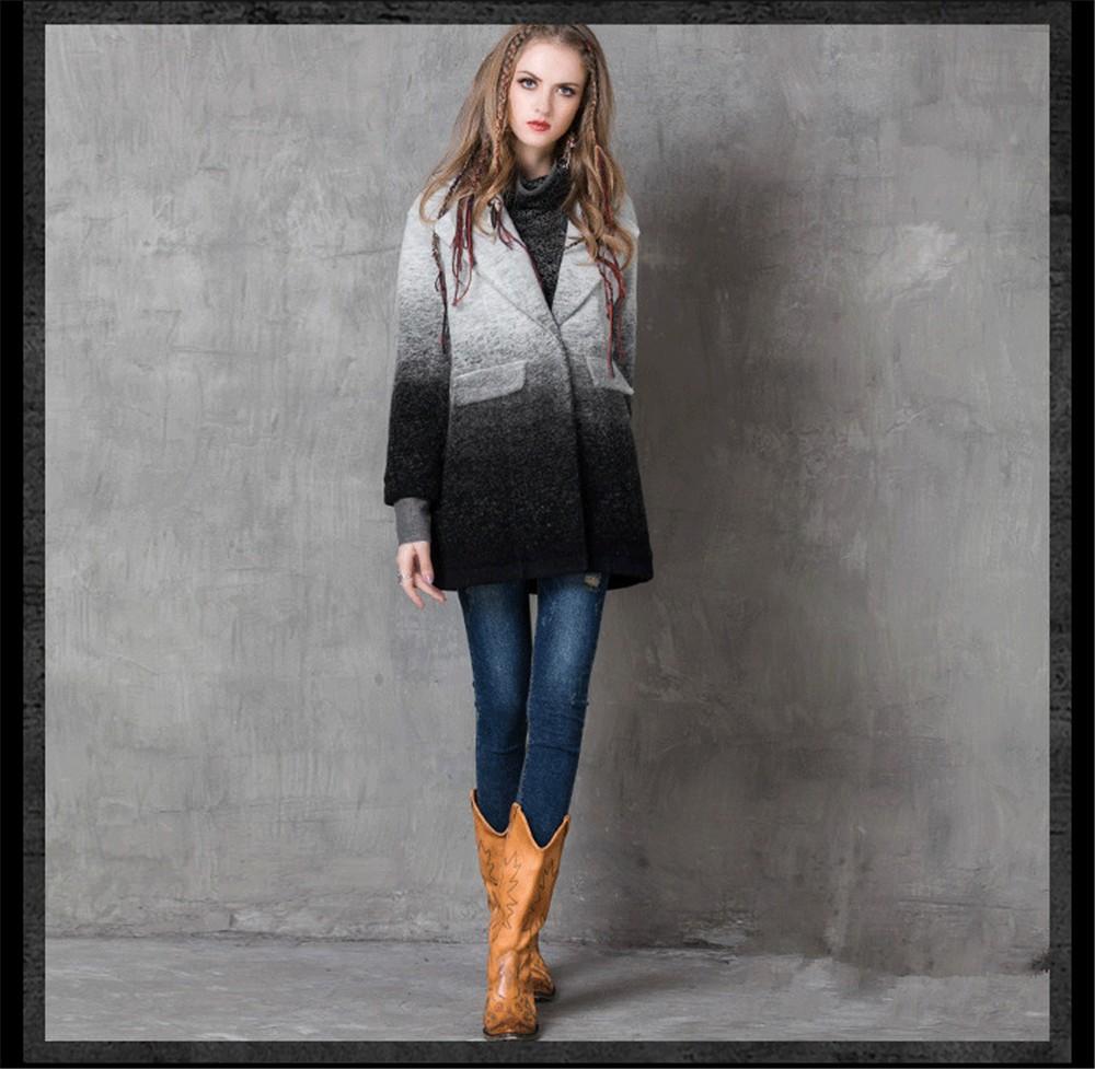 Vintage Warm Women Cashmere Coat 2016 High quality Winter Coat Women Long Sleeve Jacket Winter long Woman coats Cashmere coats (8)