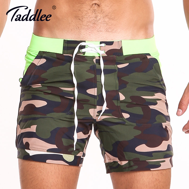 e906f66e62 Taddlee Brand Sexy Men's Swimwear Swimsuits Gay Plus Size Long Basic Camo  Swimming Surf Board Shorts Swim Boxer Trunks Quick Dry
