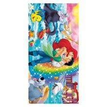70*35 см пляжное банное полотенце с принтом Русалочки, детское полотенце для рук, подарок на день рождения, бамбуковое волокно