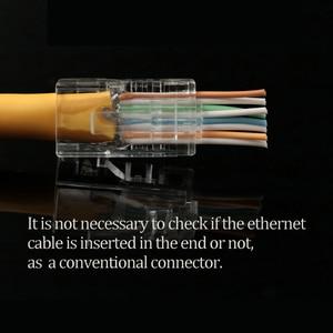 Image 3 - xintylink EZ rj45 connector cat6 rg rj 45 utp ethernet cable plug rg45 cat5e 8P8C cat 6 lan network conector cat5 jack 1000M/S