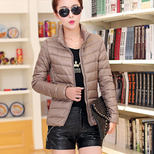 2015 high quality ultra light feather warm quilted winter white duck down jacket women plus size 3XL