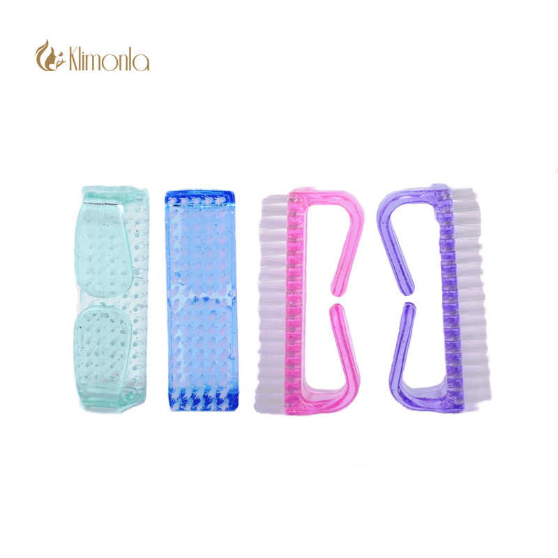 2pcs/set Big Horn Nail Brush Nail Cleaning Brush Tool File Manicure Pedicure  Remove Dust Small Angle ClearTools Sets 4 Colors