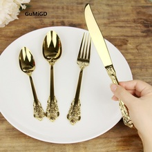 High Grade Cutlery  Gold Matte Stainless Steel Food Silverware Dinnerware Utensil Kitchen Dining Wedding