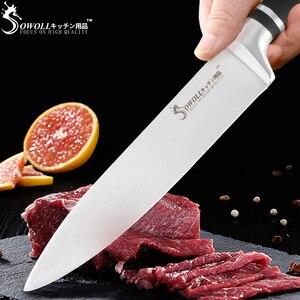 Image 3 - SOWOLL 6 PCS Set di Coltelli Da Cucina In Acciaio Inox 3Cr13 Sharp Lama Nera Maniglia Chef Set di Coltelli A Buon Mercato di Alta Qualità di Cottura coltelli