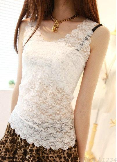 Free shipping summer tank tops 2017 new sexy Tanktop lace women s waistcoat hollow out female vest tops