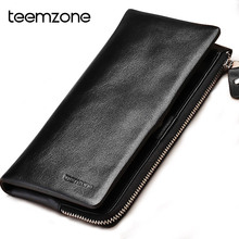 Black Fashion Men Genuine Leather Clutch Bag Designer Men's Large Capacity Handbag High Quality Famous Brand Male Solid Wallet