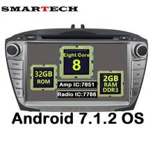 Smartech 2Din Octa core android 7.1.2 Для Hyundai IX35 Tucson автомобиль радио видео плеер Автомобильный Регистраторы головное устройство GPS навигации wi-Fi