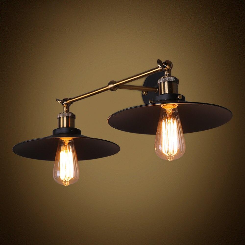 Double Heads Light Umbrella Shape Wall Lights Retro