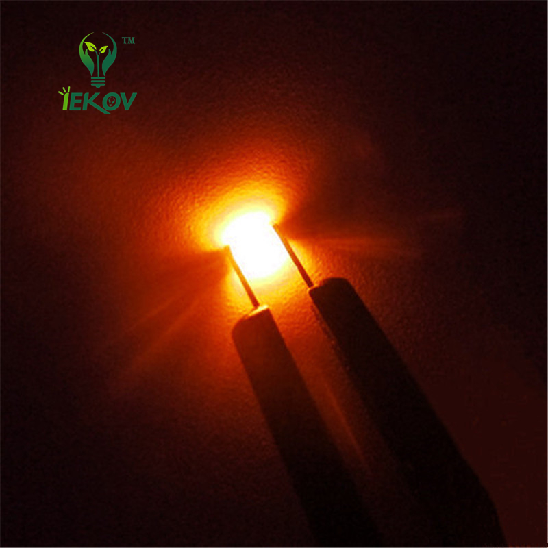100 Pcs 0805 Smd Orange Amber Led 600-610nm Smt Led Light Diode Water Clear Diy Super Bright Diodes Active Components Electronic Components & Supplies