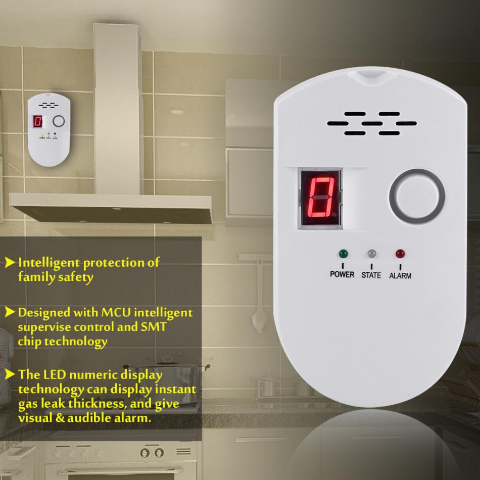 Wireless Gas Leak Detector with Alarm and Digital LED Display for Detecting Natural and LPG Gas 5