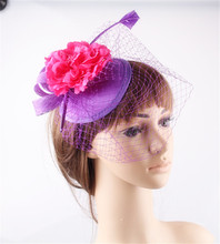 15 colors fascinating sinamay material fascinator base headpiece occasion hat T platform headwear suit for all