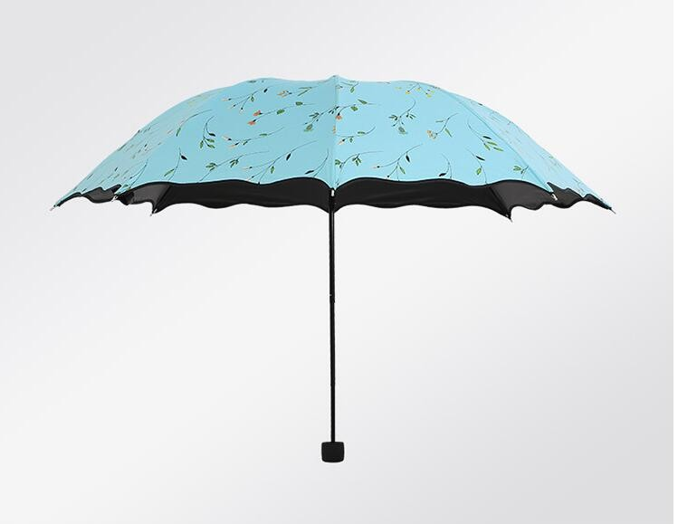 New four-color flower creative umbrella UV sun umbrellas super sunscreen  vinyl folding umbrella sunny umbrella woman Sale c0c75b69a7d