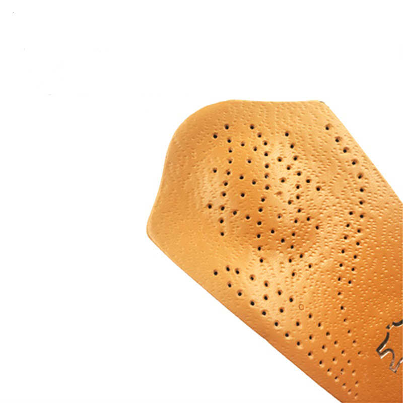 แบนเท้า Insoles หนังสีน้ำตาล Arch ครึ่งที่มองไม่เห็น Non - slip หนาครึ่ง Pad สำหรับผู้ชายและผู้หญิง orthotics Insole