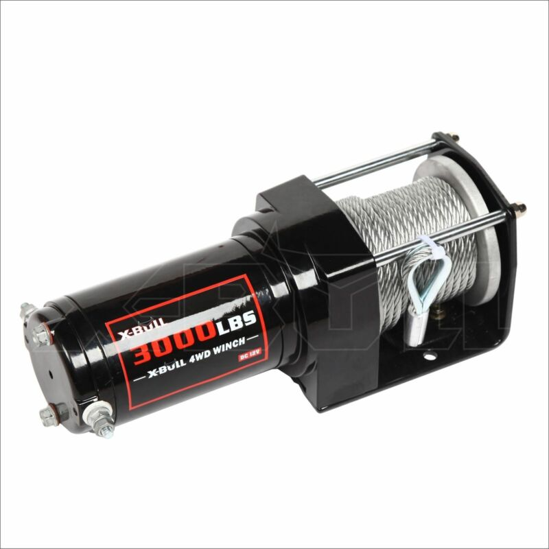 12V 3000LB/1360kg Wireless Electric Winch High Tensile Steel Cable ATV Electric Winch