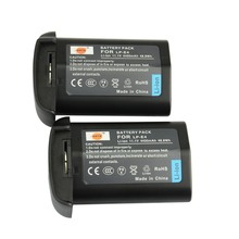 DSTE 2PCS LP-E4 LPE4 Rechargeable Battery for Canon EOS-1D Mark III 1Ds Mark III 1D mark4 DSLR Camera