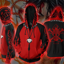 One Piece Zip Up 3D Hoodie