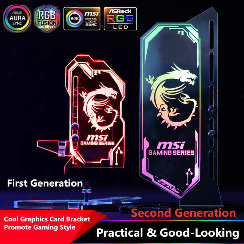 Acrylic Bracket use for Brace GPU Card Size 280*45*6mm use for Fix