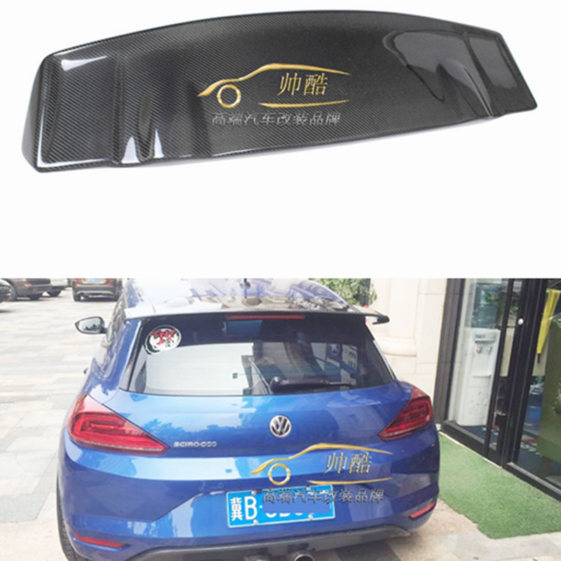 Auto Part Carbon Fiber Rear Roof Lip Spoiler Trunk Boot Wing Car Styling Fit For Volkswagen VW Scirocco 2015 2016 2017 fit 1 6 12 dolls scene accessories piano red wood transparent piano stool set