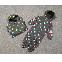 Kinder/jungen/mädchen winddicht/wasserdichte softshell mit kapuze overall, schlank form design, größe 80 zu 116