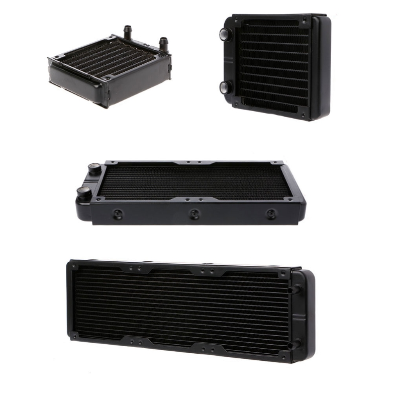 Computer Radiator Water Cooler Aluminum Computer Radiator Water Cooler 18 Tube CPU Heat Sink Exchanger 240mm 240mm 12 tube aluminum computer water cooler pc case water cooling radiator heat exchanger for laptop desktop