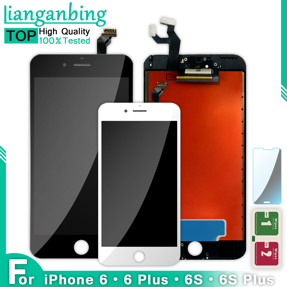 AAA Quality 100% Tested Working For 6splus 6 6s 6plus LCD Touch Screen Digitizer Display Assembly For IPhone 6 S Plus With Gift