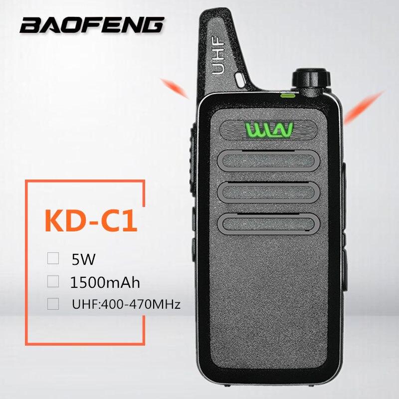 Walkie Talkie WLN KD-C1 Mini Kids HF CB Radio Station Mini Walkie Talkie Clip  Yaesu UHF 400-470MHz Mobile Transceiver USB Charger Woki Toki Telsiz Walkie Talkie Wln Kd-c1
