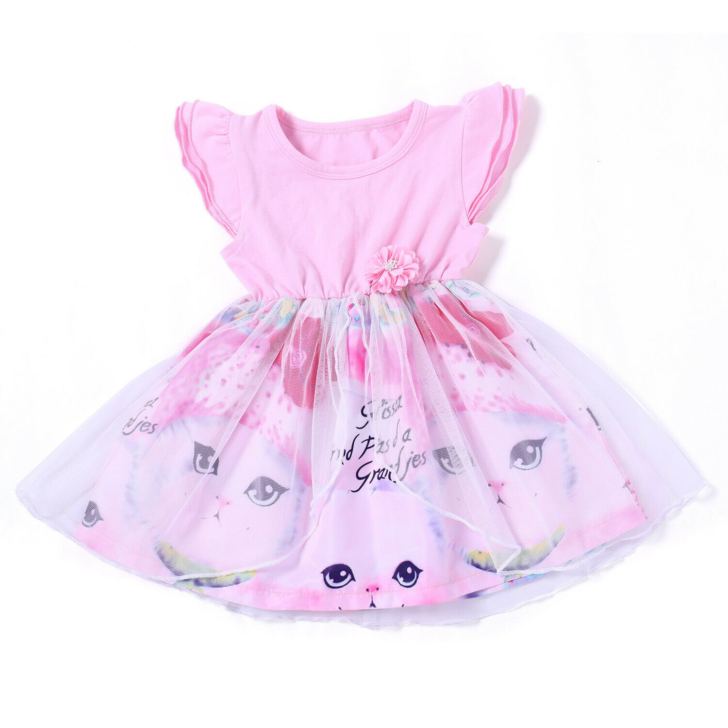 US Toddler Kids Baby Girls Lace Tutu Dress Princess Party Pageant Beach Dresses