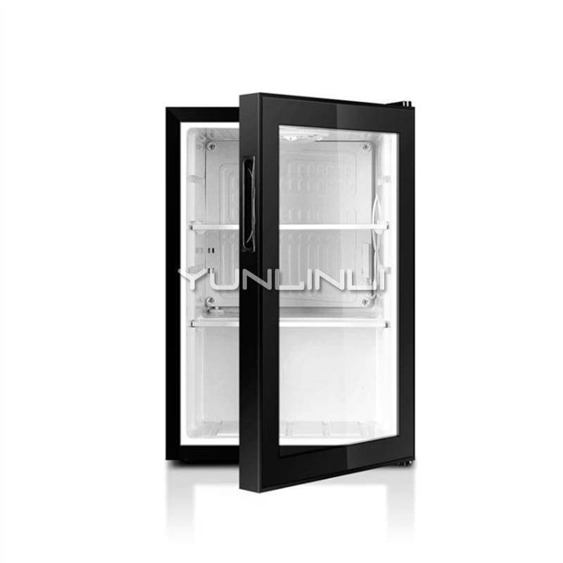 Household Refrigerator Freezer Food Sample Cabinet 62L Single Door Refrigerator Small Storage Cabinet Household LC-62/HC