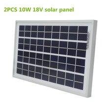 2 шт. 10 Вт 18 В поликристаллический Sillicon панель солнечной Солнечный модуль для 12 В 24 В заряда батареи, бесплатная доставка по всему миру