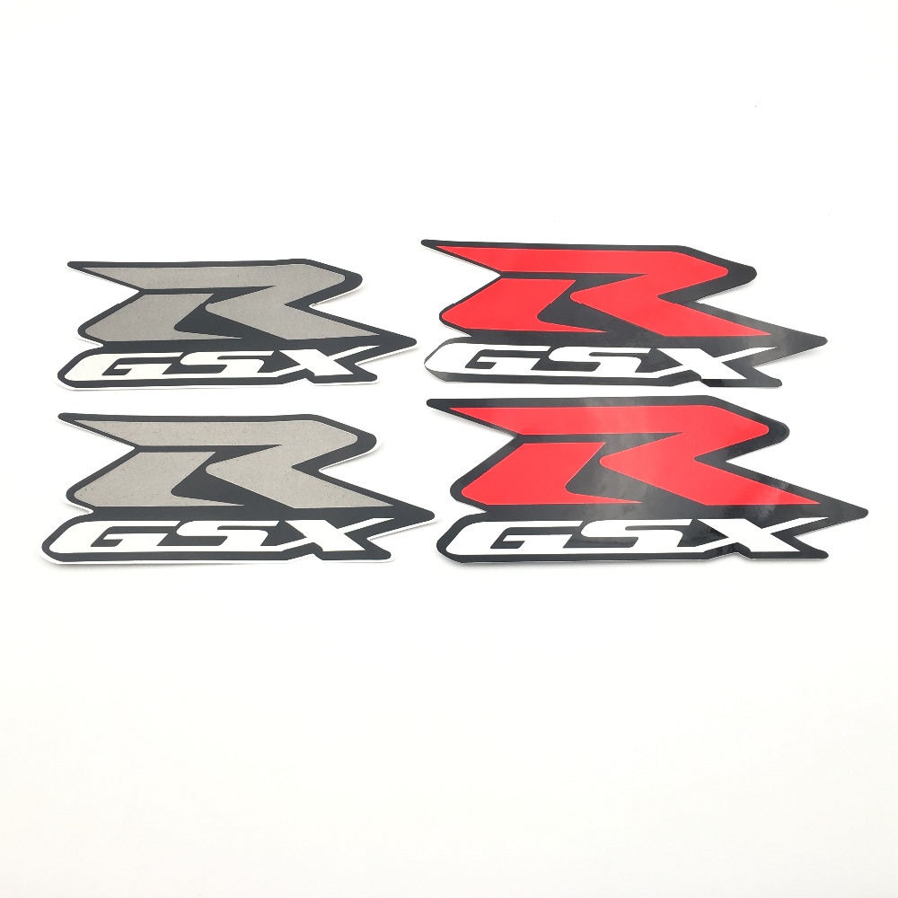 Red Gray Fairing Reflective Motorcycle Sticker Vinyl Decal Logo Badge for Suzuki GSXR GSX-R GSX R gsxr gsx r gsx-r Stickers Moto injection mold fairing 2006 2007 for suzuki gsx r 600 750 k6 k7 plastic bike bodywork red frame free brand logo decal