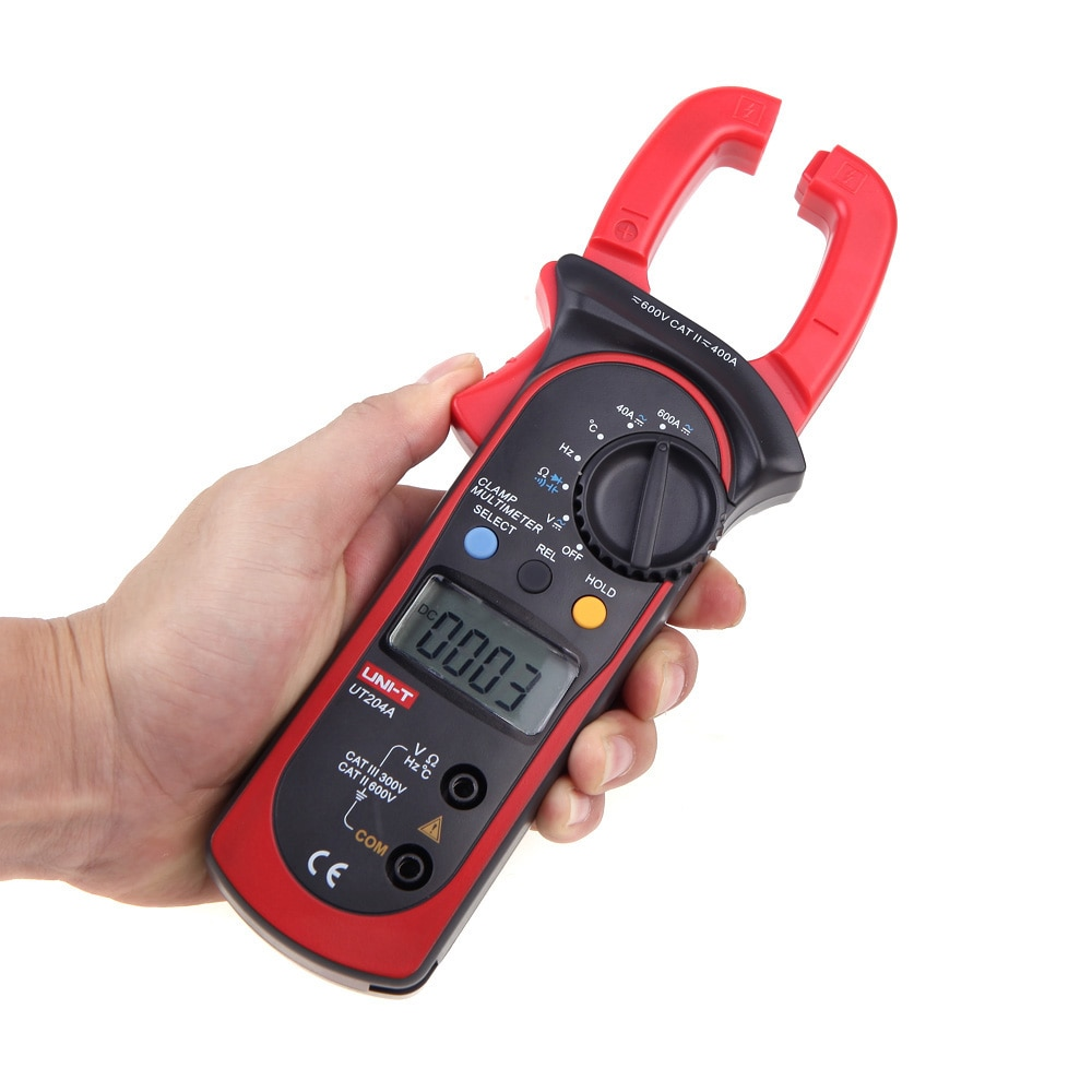 Mini Digital Clamp Meters Multimeter AC DC Current Voltage Meter Tongs Capacitance Resistance Temperature Tester