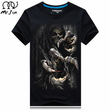 MR.JIM 2017 nine Size Water droplets move printed t-shirts, punk short sleeve T-shirt S – 6XL , 20 style Men men's T-shirt