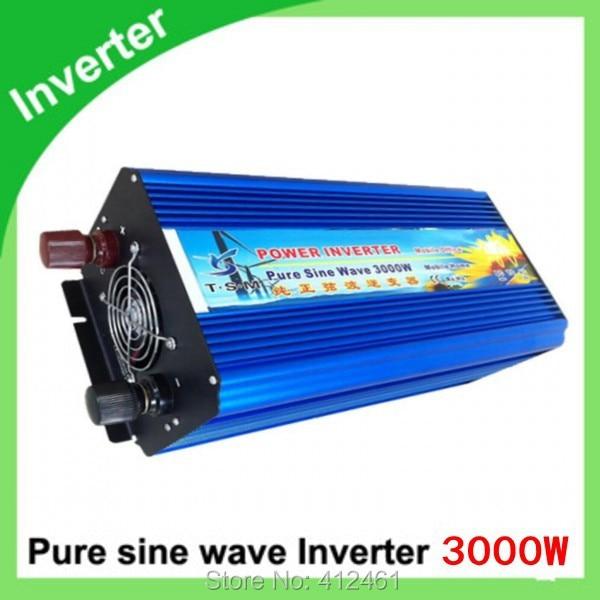 Special Offer!!! 300Watts Pure Sine Wave Power Inverter DC 12v to AC 220v for laptop,  3000W cruce puro da onda senoidal