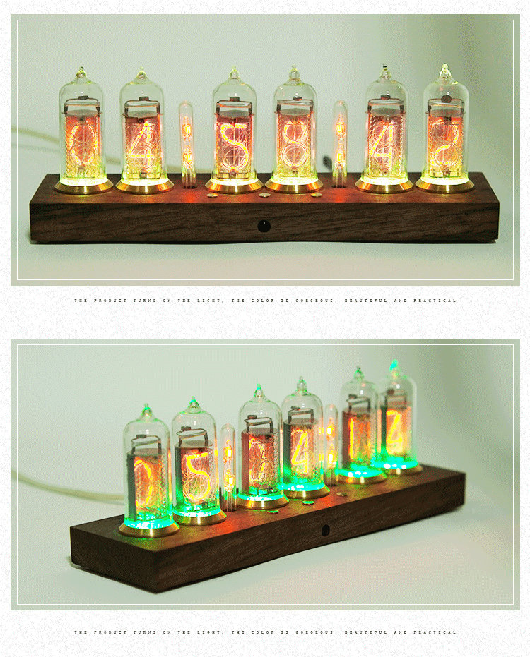 Former Soviet IN14 glow tube clock electronic tube clock NIXIE CLOCK without glow tube 2