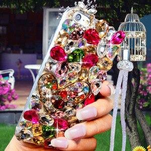 Image 1 - Lüks kristal renkli taş için elmas durumda Huawei onur 9X Pro 8X Max 7X 20 Pro ben 10 9 8lite V20 30 Note8 telefon kılıfı