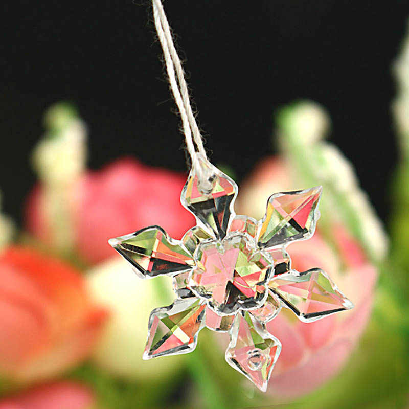 20 pièces/ensemble forme de flocon de neige de noël cristal clair acrylique strass Flatback Cabochon bricolage artisanat décoratif Scrapbooking décor