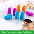 10 Pairs/Lot Colorful Soft Foam Anti-noise Ear Plug Slow Rebound Noise Prevention Earplugs for Studying Travel Sleeping Aviation
