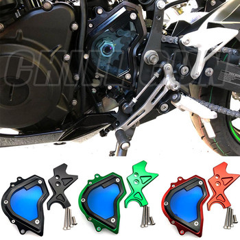 De aluminio CNC lado izquierdo del motor ajuste piñón delantero protector de cadena para Kawasaki Ninja 400 NINJA400 2018 2019 18 19