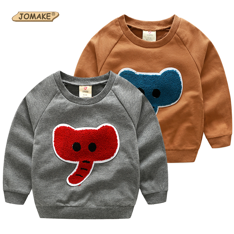 Baby Boy Sweatshirt Autumn Cartoon Elephant Kids Pullover Tops Casual O-Neck Boys Coat New Brand Boys Clothes Children Clothing