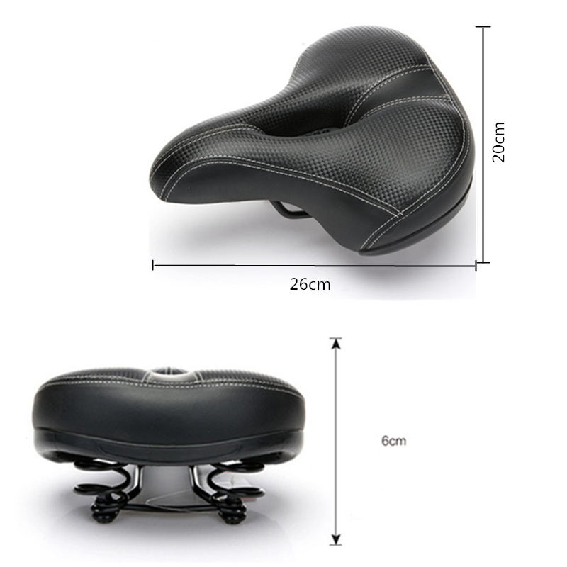 ROBESBON Wide Bicycle Seat Thicken Bike Saddle Bicicleta Seat Asiento Sponge Soft Cycling Saddle Cycling Saddle MTB Cushion