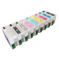 9 Colors Refillable Ink Cartridge For Epson Surecolor P600 SC P600 Printer With Auto Reset Chips