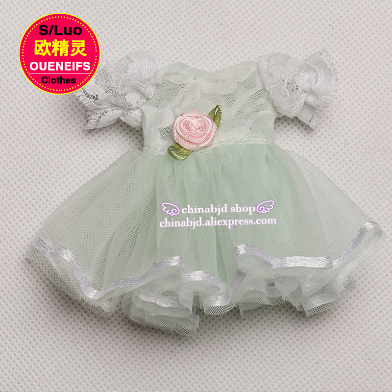 OUENEIFS free shipping, chiffon dress,round neck Lace sleeve, in summer, 1/8 bjd sd doll clothes,no dolls and wigs YF8-101  4