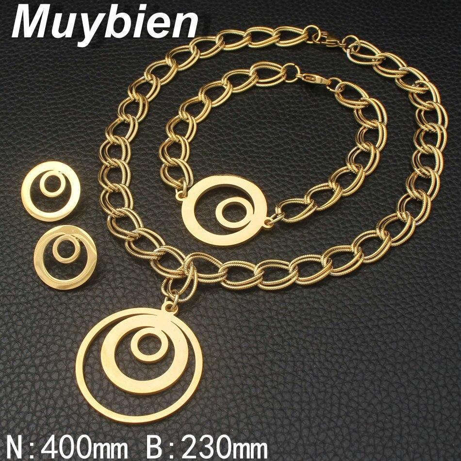 Nuevo patrón de la manera joyería de acero inoxidable collar de - Bisutería - foto 2