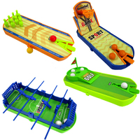 Novità giocattoli decompressione, campo di calcio campo da basket bowling golf 4 PZ vestito