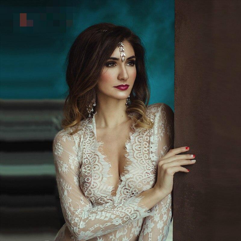 Sizzle intimates White Lace transparent gown Plus Size