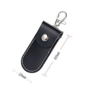 Image 3 - Универсальный USB флэш кожаный защитный чехол для хранения черный портативный защитный чехол с кольцом для ключей родий Омар застежка зажим шкафчик