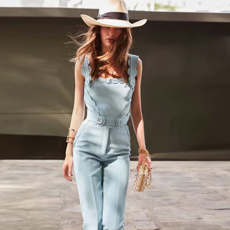 Rompers High Quality 2019 Summer New Fashion Women S Party Elegant Vintage Chic Office Sexy Strap