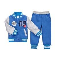 Children Set Baseball uniform Sweatshirts Pullover V Neck Spring Autumn Winter Sportswear Boy Girl Children's Clothes
