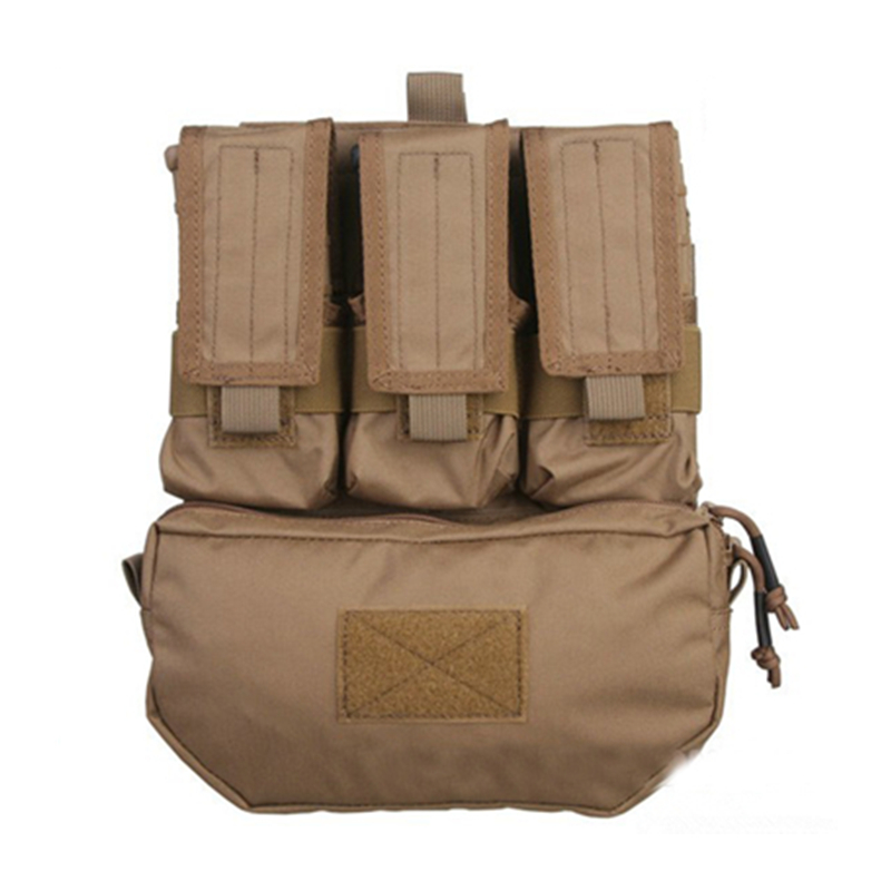 Tactical Military Assault Back Panel Pack 500D Cordura Coyote Brown Pouches MOLLE Pack FOR Outdoor Hunting or Airsoft Vests